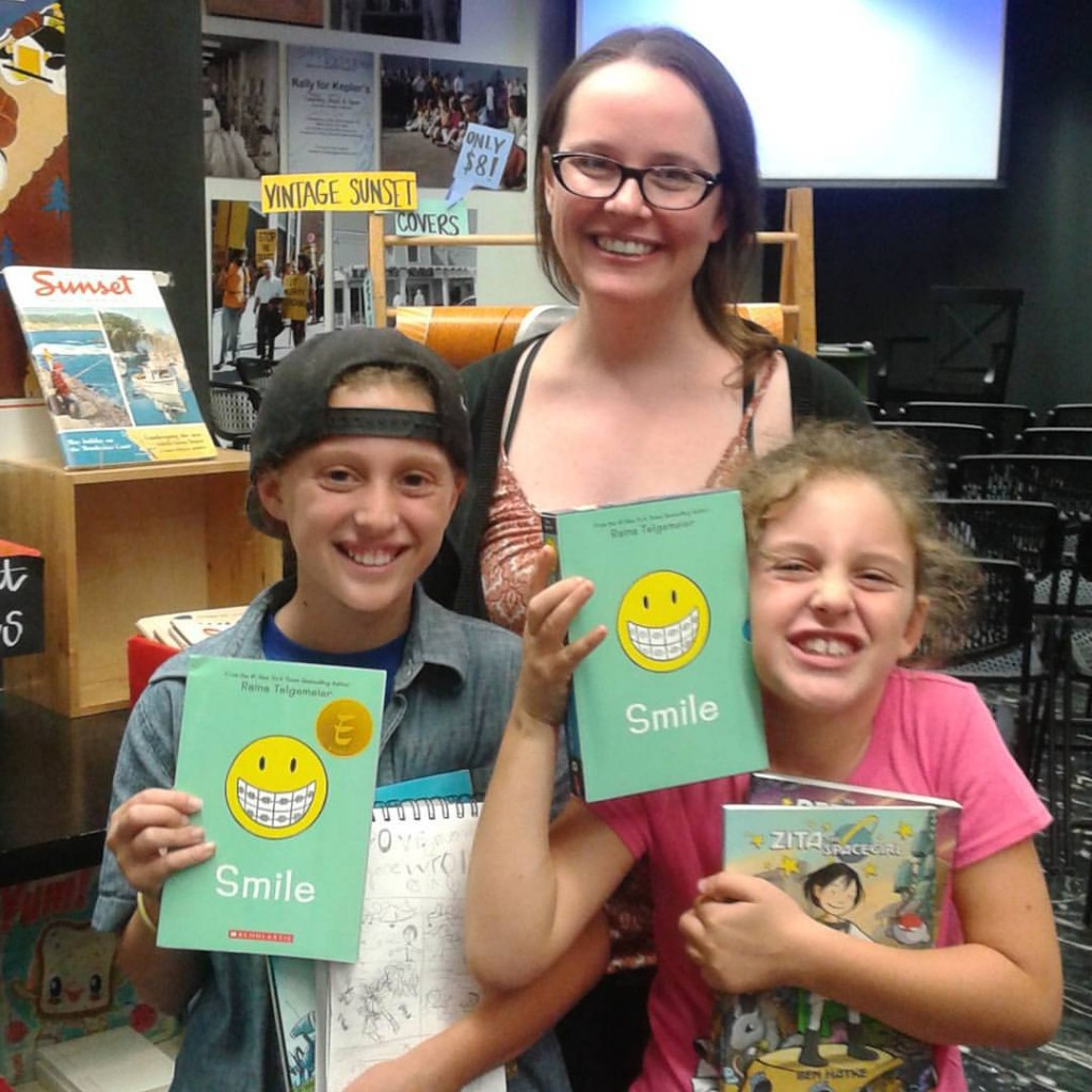 C, Raina Telgemeier, and Little L.