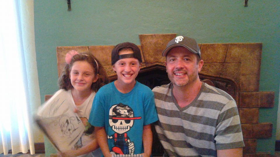 Little L, C, and Stephan Pastis.